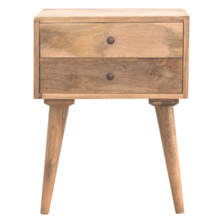 Scandinavian 2 Drawer Bedside