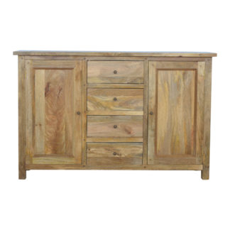 Country Style Sideboard with 2 Cabinets & 4 Drawers