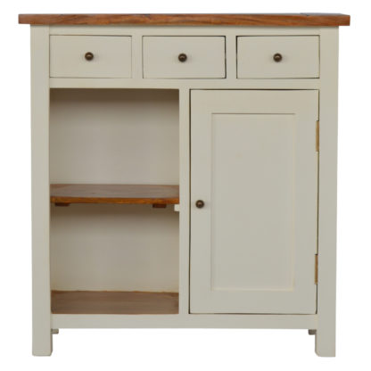 2 Toned Kitchen Unit with 3 Drawer 2 Open Shelves