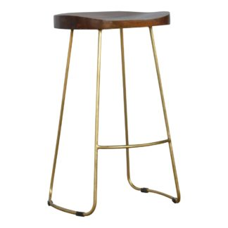 Barstool With Gold Base