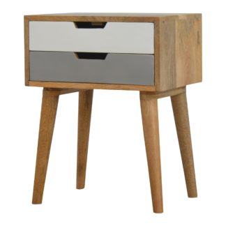 Green 2 Drawer Bedside Table