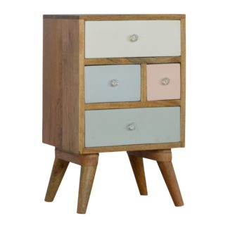 Hand Painted Multi Drawer Bedside Table