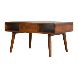 1 Drawer Curved Coffee Table