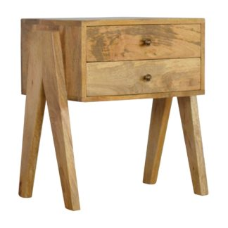 2 Drawer V-shaped Nordic Style Bedside